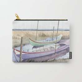River bank boats - Landscape - Ria de Aveiro , Portugal Carry-All Pouch