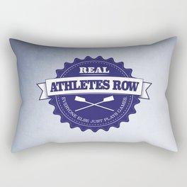 Real Athletes Row Rectangular Pillow