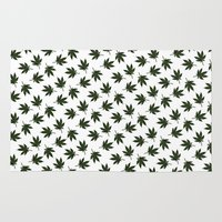 cannabis Area & Throw Rugs featuring Cannabis by WeedPornDaily