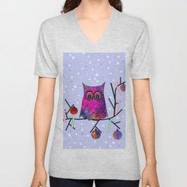 The Festive Owl Unisex V-Neck