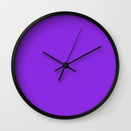 SOLID PLAIN PROTON PURPLE  WORLDWIDE TRENDING COLOR / COLOUR Wall Clock