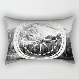 Mountain and Compass Rectangular Pillow