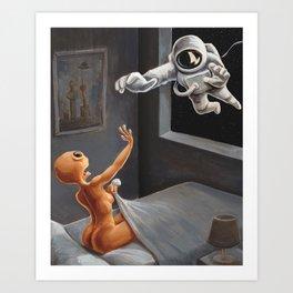 The Alien Oil Canvas Art Print
