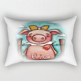 PIG - by Diane Duda Rectangular Pillow
