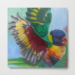 Parakeet Metal Print