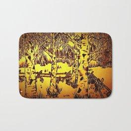 Golden Mountain Sunset - Bath Mat