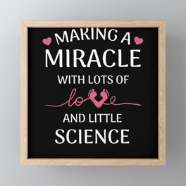 Cute Surrogate Mom Gift Love and Science Framed Mini Art Print