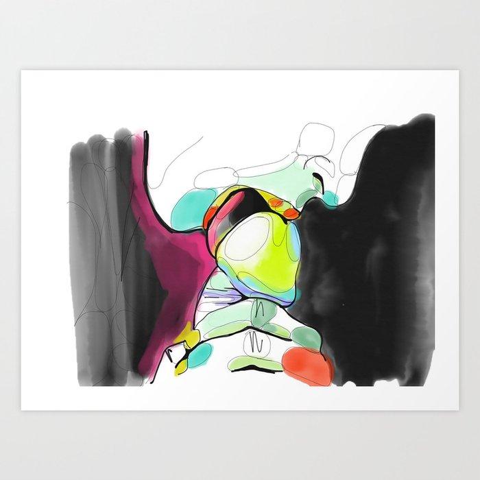 This magnificent erotic art prints against