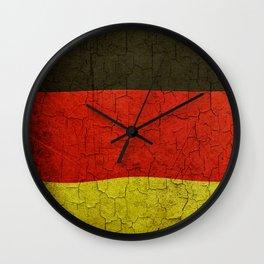Cracked Germany flag Wall Clock