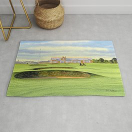 Royal Troon Golf Course 18th And Clubhouse Rug