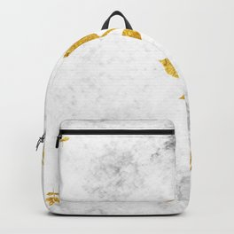 Marble and Gold Backpack