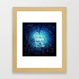 Once Upon A Time ~ Winter Snow Fairytale Forest Framed Art Print