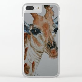 Water Colour Giraffe From Singapore Zoo Clear iPhone Case