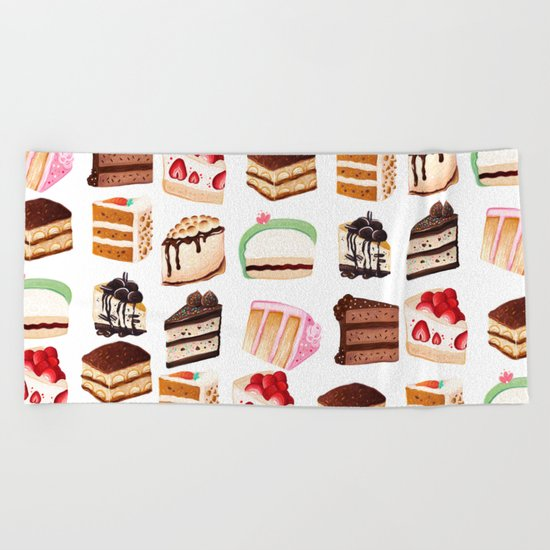 Yummy Cakes Beach Towel