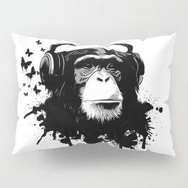 Monkey Business - White Pillow Sham
