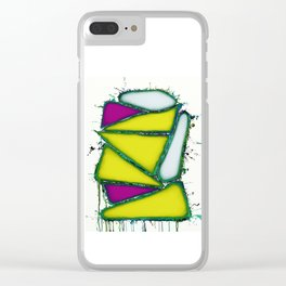 Yellow sail Clear iPhone Case