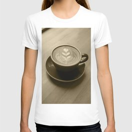 Coffee heart - sepia T-shirt