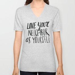 Love Your Neighbor Unisex V-Neck