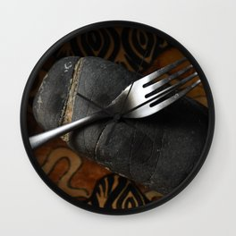 Fork and Stone Wall Clock
