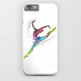 Gymnast Art Print Sports Print Watercolor Print iPhone Case