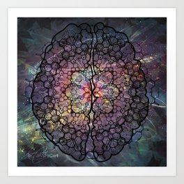Molecule Mandala Art Print