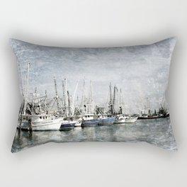 Shrimp Boats at the Pass Harbor Rectangular Pillow
