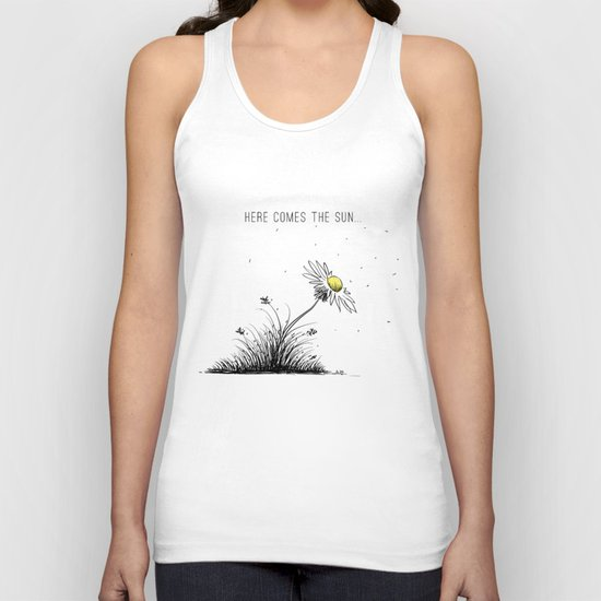 Here comes the sun Unisex Tank Top