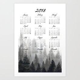 2018 Calendar Art Print