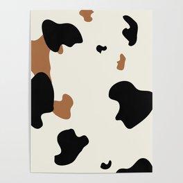 Cowhide Pattern Poster