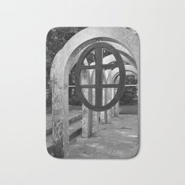 Small Park with Arches II Bath Mat