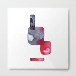 Abstract Red Indigo Metal Print
