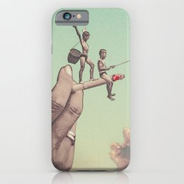 The dangers of happiness iPhone Case