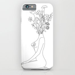 Minimal Line Bloom iPhone Case