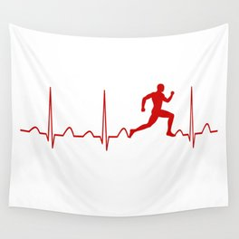 RUNNER'S MAN HEARTBEAT Wall Tapestry