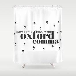 Grammarians Unite (Oxford Comma) Shower Curtain
