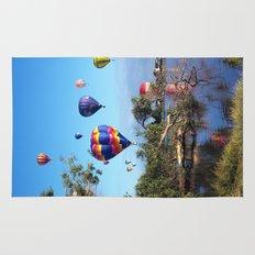 Hot air balloon scene Rug