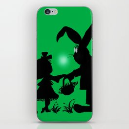 Silhouette Easter Bunny Gift iPhone Skin