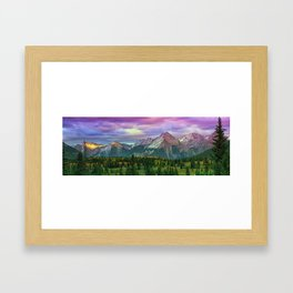 Molas Pass Sunset Panorama Framed Art Print