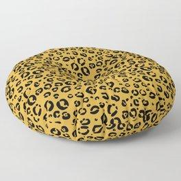 Leopard (black on gold) Floor Pillow