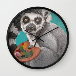 art lemur Wall Clock