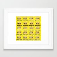 hamburger Framed Art Prints featuring Hamburger by Kris Sung