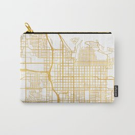 SALT LAKE CITY UTAH CITY STREET MAP ART Carry-All Pouch