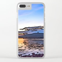 Scrabo Sunet, Ireland. (Painting) Clear iPhone Case