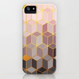 Hidden Gold Cubes iPhone Case