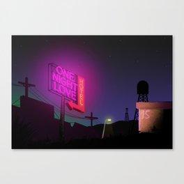 One Night Love Hotel Canvas Print