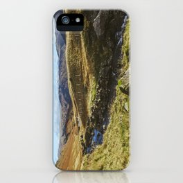 Views of Honister Pass and Hause Gill above Seatoller. Lake District; UK. iPhone Case