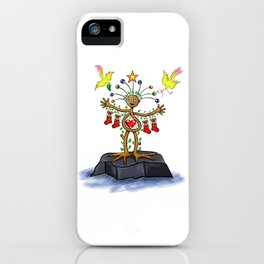 Nature Man Christmas iPhone Case