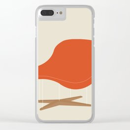 Orange La Chaise Chair by Charles & Ray Eames Clear iPhone Case