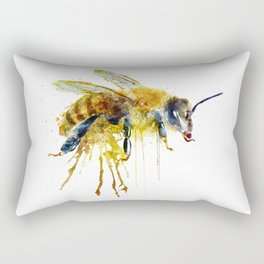 Watercolor Bee Rectangular Pillow