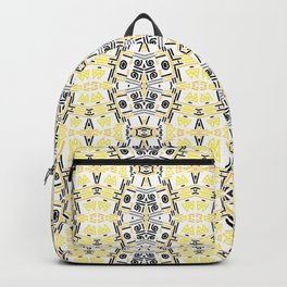 Black yellow ornament Backpack